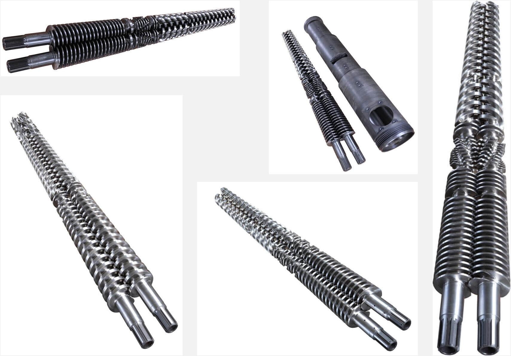 conical-twin screw and barrel